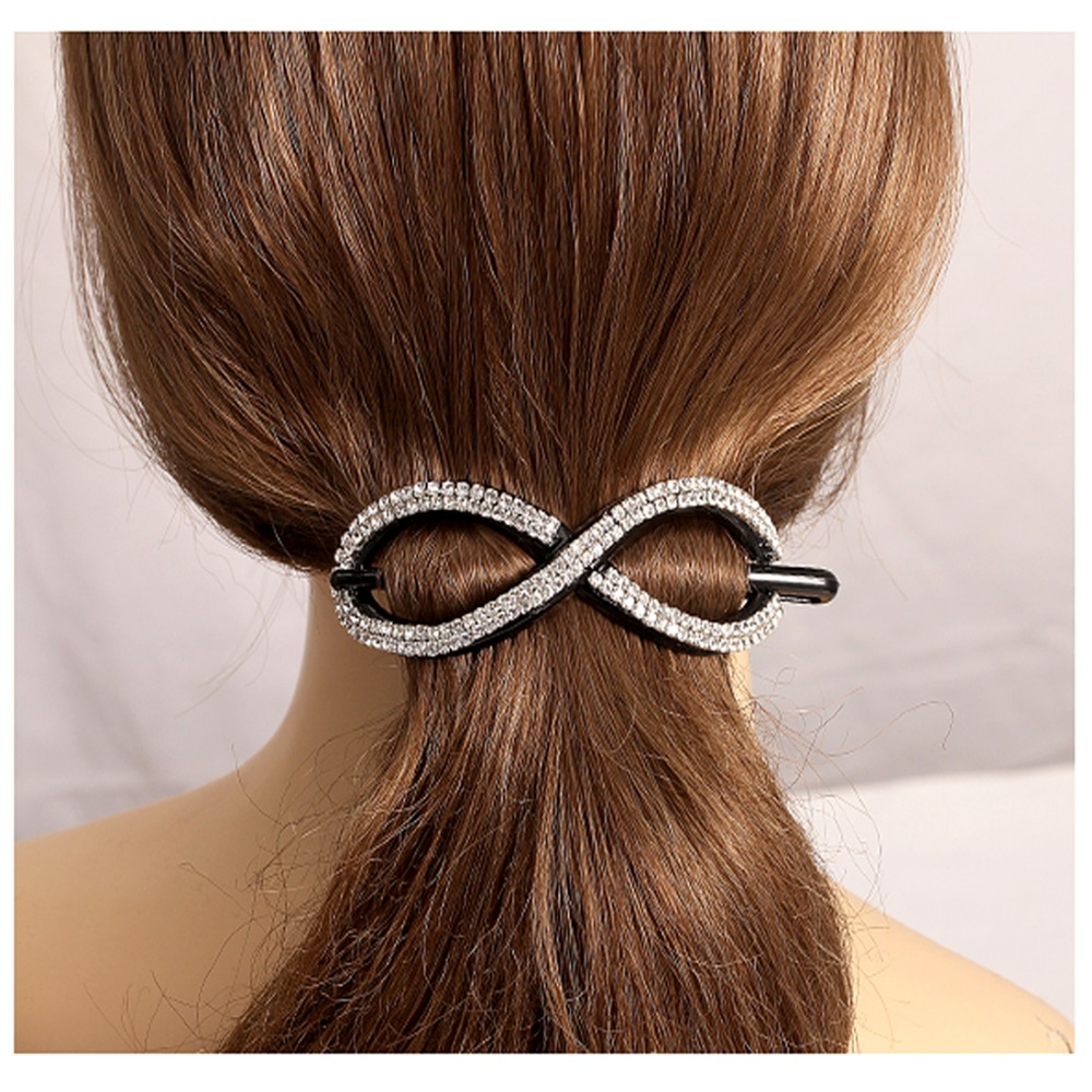 2016 New Hair Stick Crystals Hair Jewelry Ponytail Clips ...