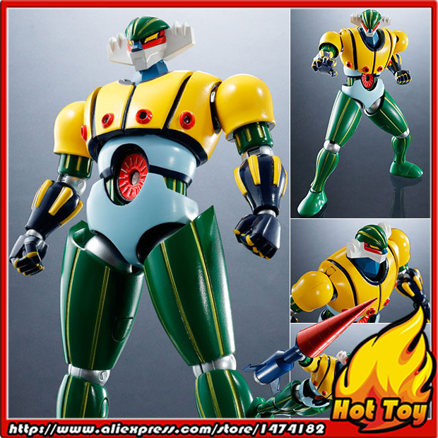 100% Original BANDAI Tamashii Nations Super Robot Chogokin Action Figure - Steel Jeeg from Steel Jeeg original bandai tamashii nations robot spirits exclusive action figure rick dom char s custom model ver a n i m e gundam