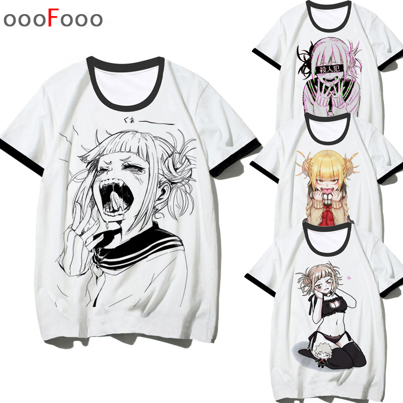 Ahegao Print   T     Shirt   Men Himiko Toga male/women   t  -  shirt   senpai boku no hero academia tee   shirt   tshirt harajuku Cartoon waifu