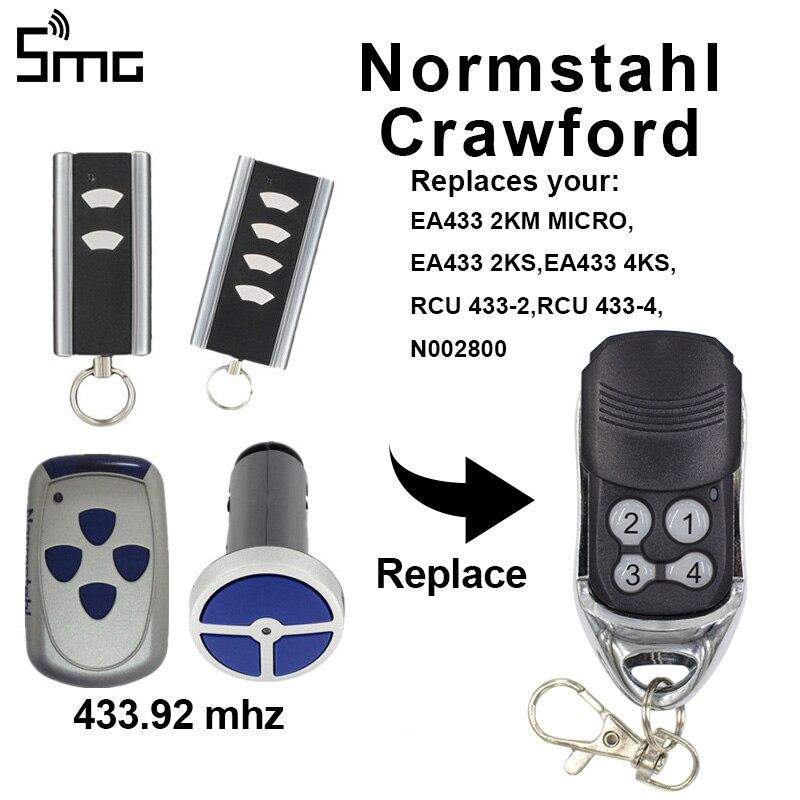 For Normstahl Crawford 433.92MHz garage door opener 4 channel EA433 2KM MICRO garage control 433 mhz rolling code remote gate Door Remote Control    - AliExpress