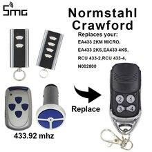 Normstahl Crawford remoto da garagem Normstahl EA433 rolling code controle remoto da porta da garagem 433.92mhz controle remoto controle do portão