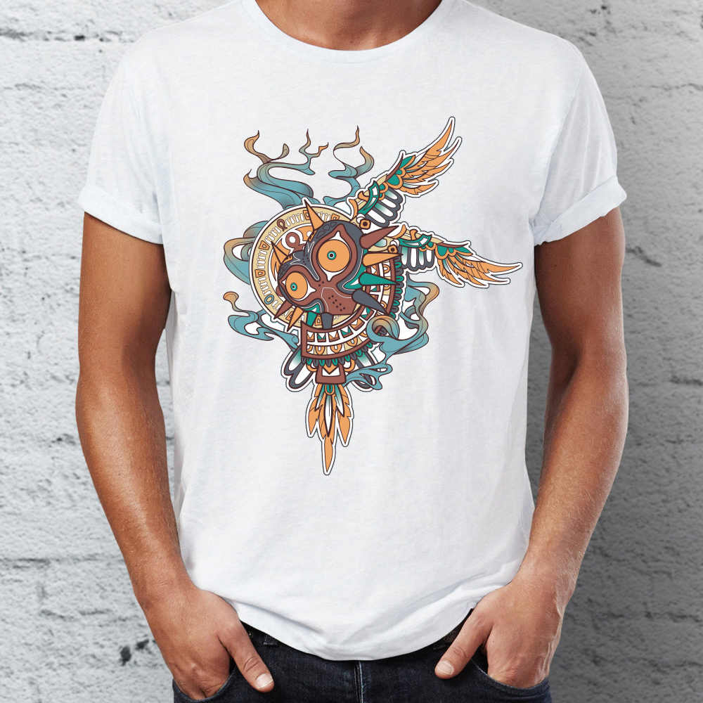 408ed7af24 Detail Feedback Questions about Men s T Shirt Tribal Majora s Mask Legend  of Zelda Gaming Awesome Tee on Aliexpress.com
