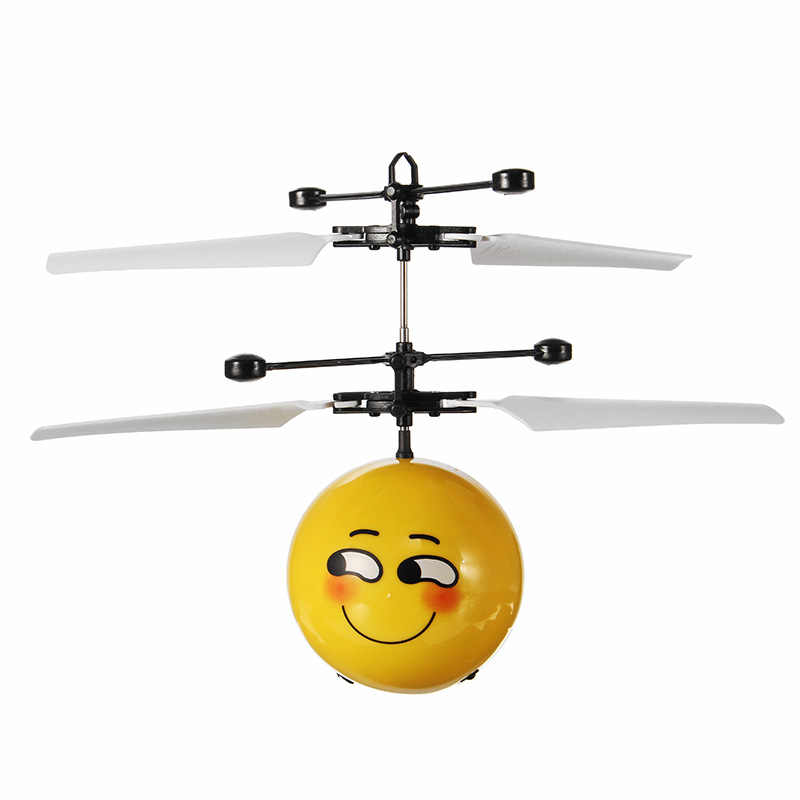 New Arrival Hand Induction Aircraft Flying Facial Expression Helicopter Toy for Kids Toy Models Gift