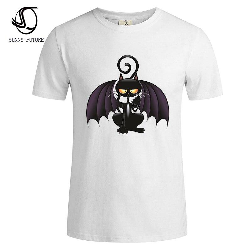 Cat Mens 2017 New Print Shirt Bat T Summer Fashion XnPwO80k
