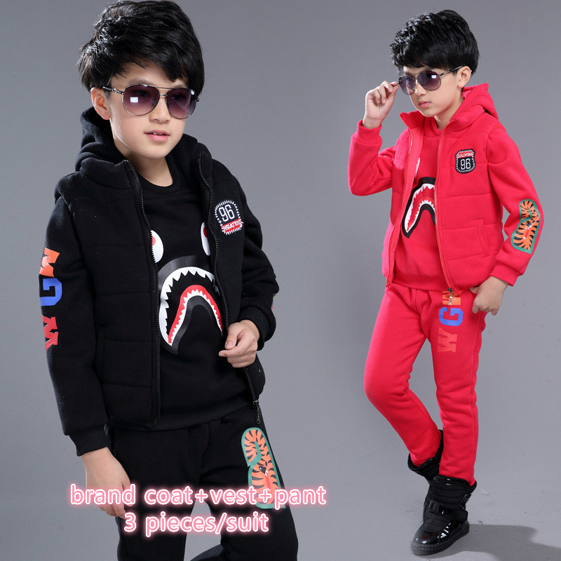 New children brand suit clothing for boy 5 13 year kids boy winter warm clothing children