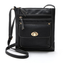 Women Leather Satchel Cross Bags Ladies Leisure Shoulder Messenger Bag Large Capacity Shoulder Coin Purse Zipper Bolsas