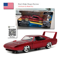 JADA 1/24 Scale Car Model Toys Fast and Furious Dom's Dodge Charger Daytona Diecast Metal Car Model Toy For Collection,Gift,Kids