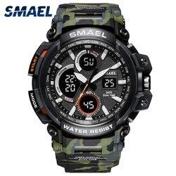 2018 Nova Camuflagem Militar Relógio Do Esporte Dos Homens À Prova D' Água LED Digital de Pulso Relógio S Choque Masculino Exército Relógios Relogio masculino Saat
