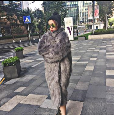 2018 Winter Women Faux Fur Coat Artificial Fur Overcoat Mink Jacket manteau femme hiver Plus Size Mink  Fake Fur Outwear Q922