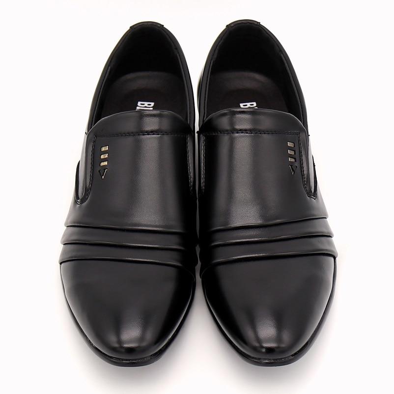 BIMUDUIYU Mewah merek PU Kulit Fashion Pria Bisnis Berpakaian Sepatu - Sepatu Pria - Foto 2