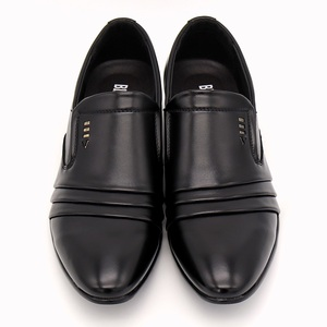 Image 2 - BIMUDUIYU  brand PU Leather Fashion Men Business Dress Loafers Pointy Black Shoes Oxford Breathable Formal Wedding Shoes