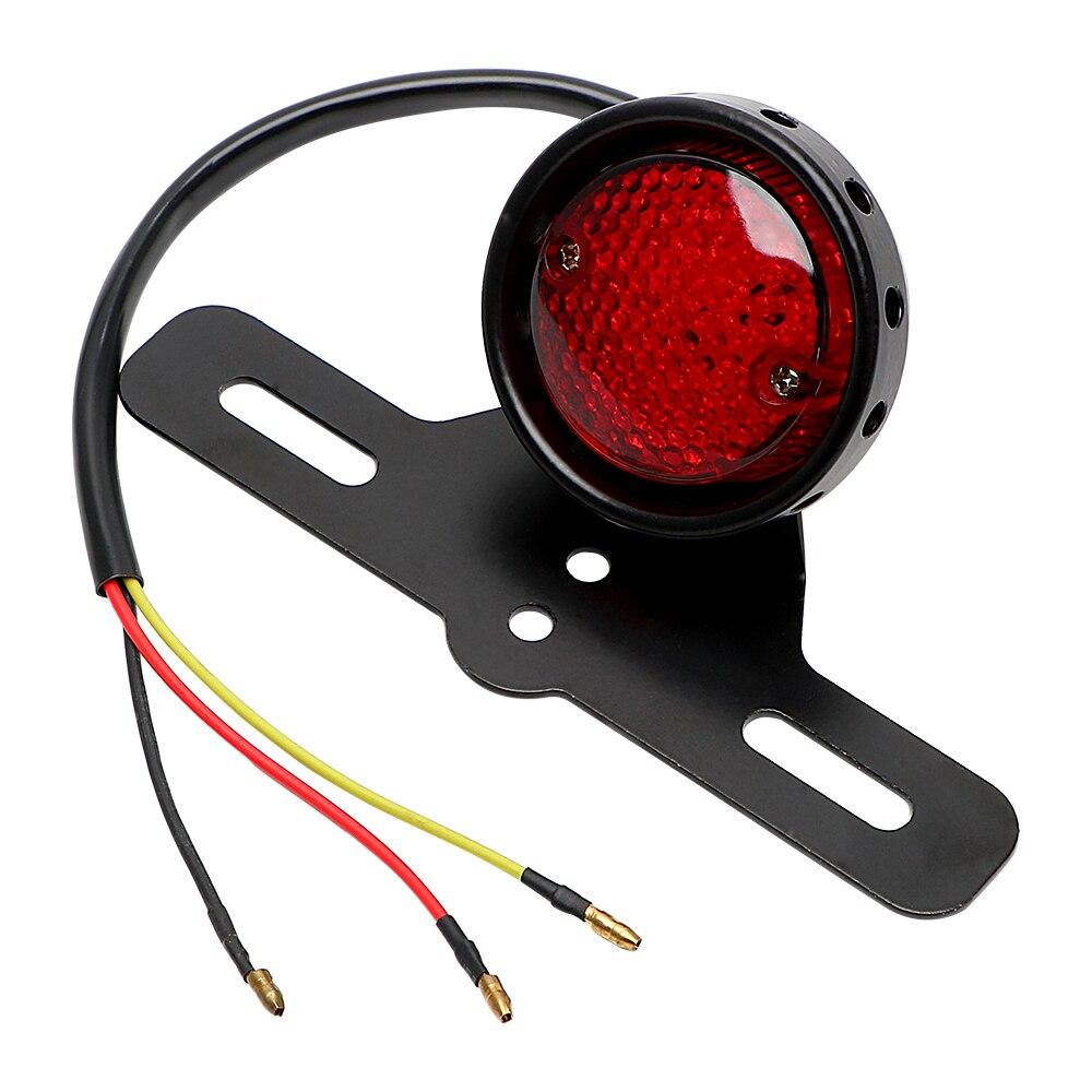 For Harley Chopper Bobber LED Motorcycle Tail Brake Stop Light Moto Rear Lights Taillight Cafe Racer