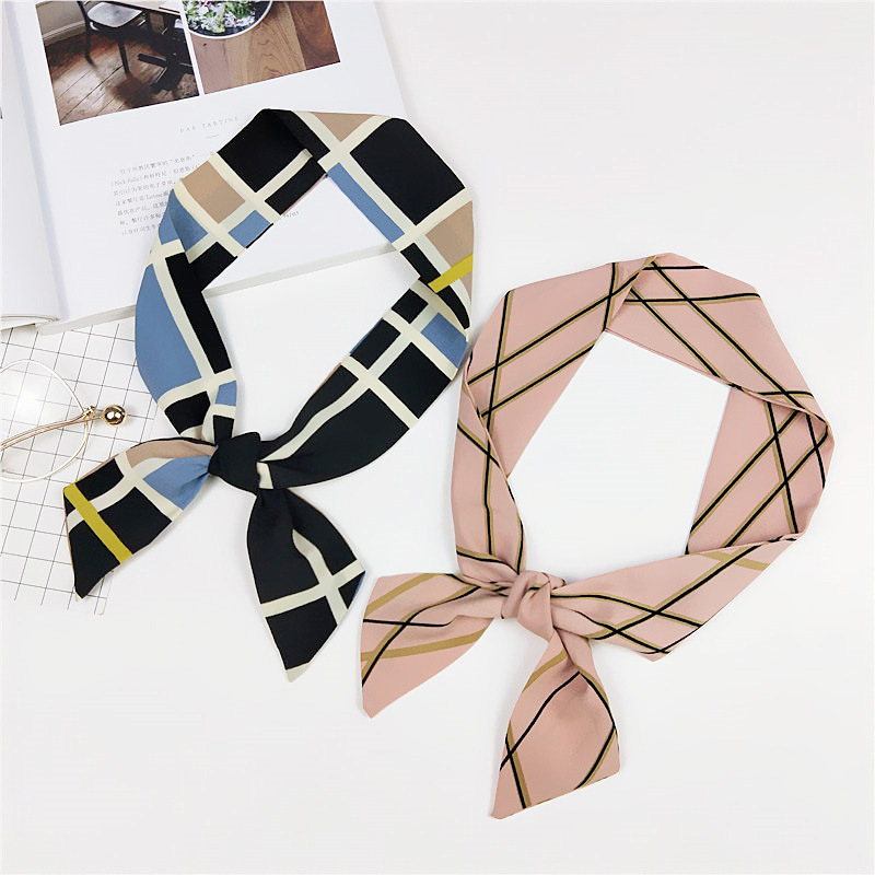 New Small Scarf Female Korean Spring Summer Tied Bag Wrapped Handle Ribbon Scarf Wild Long Strips Scarves,fashion Skinny Scarf