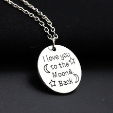 The new Europe English letters circular sweater chain pendant necklace jewelry Z3187