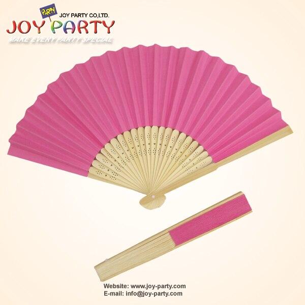 10pcs / lot 21cm Deep Rose / Fushia / Hot roz Culoare de hârtie Fan - Produse pentru sărbători și petreceri