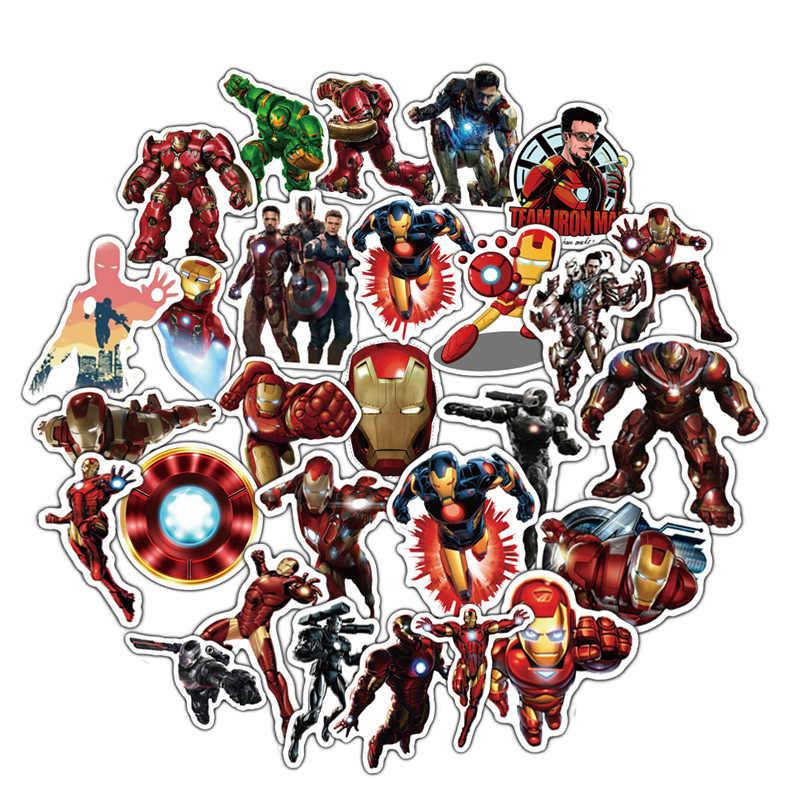 50pcs Ironman Adesivos À Prova D' Água Super Herói Personagem Tony Stark Homem De Ferro Avengers Adesivo Laptop Crianças Brinquedos Para Crianças