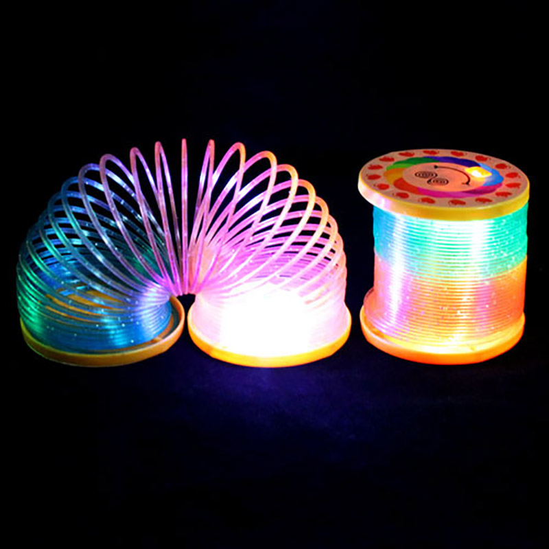 1 PC New Kids Magic Rainbow Spring Colorful Children Funny Classic Toy Rainbow Circle Coil Elastic Toys Random Colors