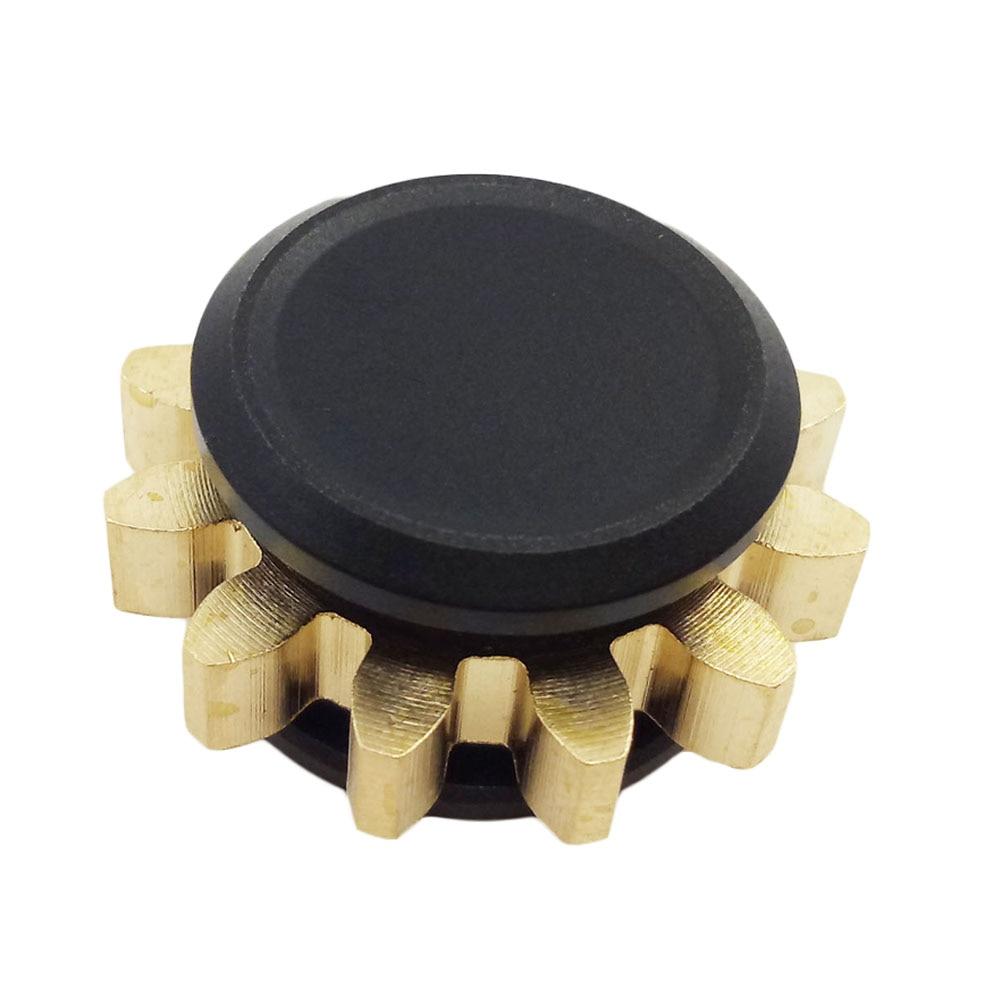 High Quality Alloy Gear Mute Tri Spinning Metal Fidget Hand Spinner Finger Spinners Figit Anti Stress