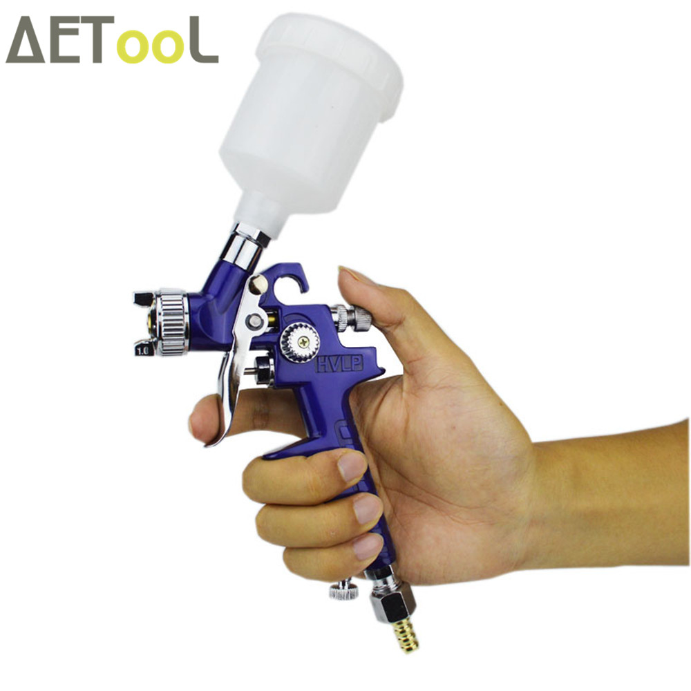 Image 3 - AETool 0.8mm/1.0mm Nozzle H 2000 Professional HVLP Spray Gun Mini Air Paint Spray Guns Airbrush For Painting Car Aerograph-in Spray Guns from Tools on