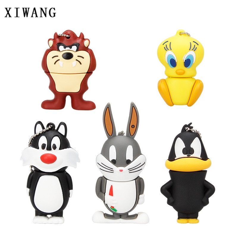 XIWANG 100% real capacity high speed usb3.0 animal series USB flash drive pendrive 4GB 8GB 16GB 32GB 64GB cartoon rabbit U disk