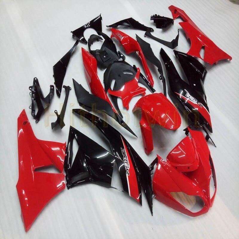 На заказ + винты литьевой формы черный мотоцикл Обтекатели ZX 6R 09 12 для zx6r 2009 2012 ZX6R 636 - 6
