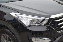 Montford для Hyundai Santa Fe IX45 2013 2014 2015 ABS Хром Передняя крышка лампы фар кадров протектор Авто Интимные аксессуары 2 шт.