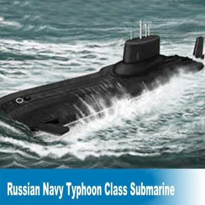 Static Scale Model 1:700 Russian Navy Typhoon Class Submarine Assembly Model Buidling Model Kits Free Shipping