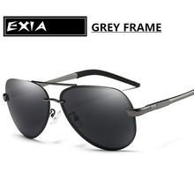 Classic Sunglasses Men Dark Grey Polarized UV400 EXIA OPTICAL KD-0761 Series