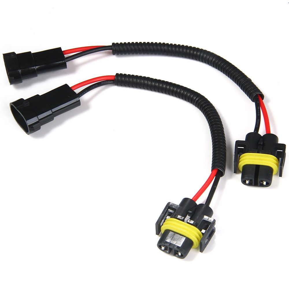 New 2pcs Car Foglight Headlight Lamp Bulb Cables Extension Adapter Wiring  Harness Socket Wire Connector Cable Plug For HID LED-in Cables, Adapters &  Sockets ...