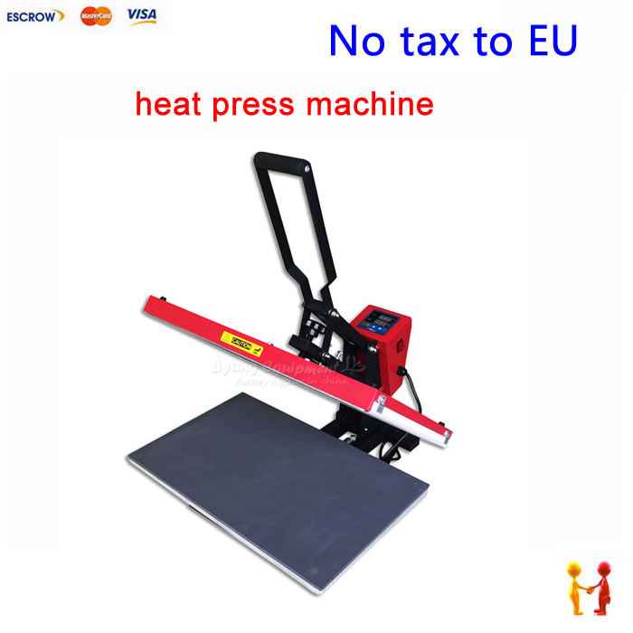 (NO TAX TO EU ) Heat press machine thermal transfer equipment 6040 2200W for T-shirt, pillow, mouse pad, puzzle etc 1 pcs 38 38cm small heat press machine hp230a