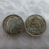 United States  1910  Barber Dimes Copy Coins