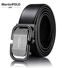 Black Automatic Buckle Genuine Leather Belt Mens Belts Cow for Men Waist Strap Ceinture Pour Homme MP0301P