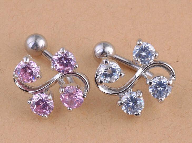2015 למעלה אופנה מזויף מחץ מחץ 1 יח'\חבילה חדש מצופה קריסטל טאסל להתנדנד טבור טבעת בר פירסינג רבים סגנונות