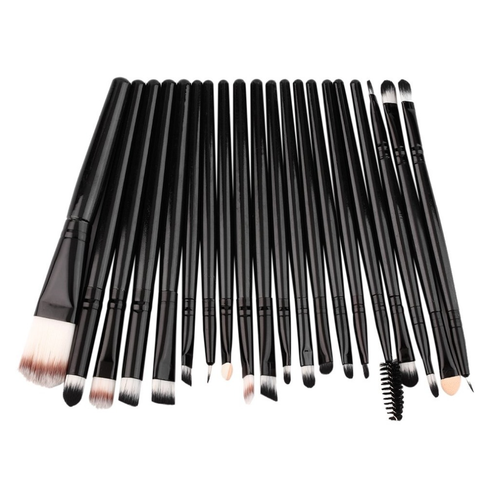 Professional New 20 pcs Makeup Beauty Cosmetic Blush Black Brushes Kits Foundation,Powder Make up brush
