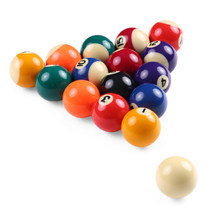 25MM /32MM/ 38MM Children Mini Billiards Table Balls Set Resin Small Pool Cue Balls Full Set Snooker & Billiard Accessories(China)