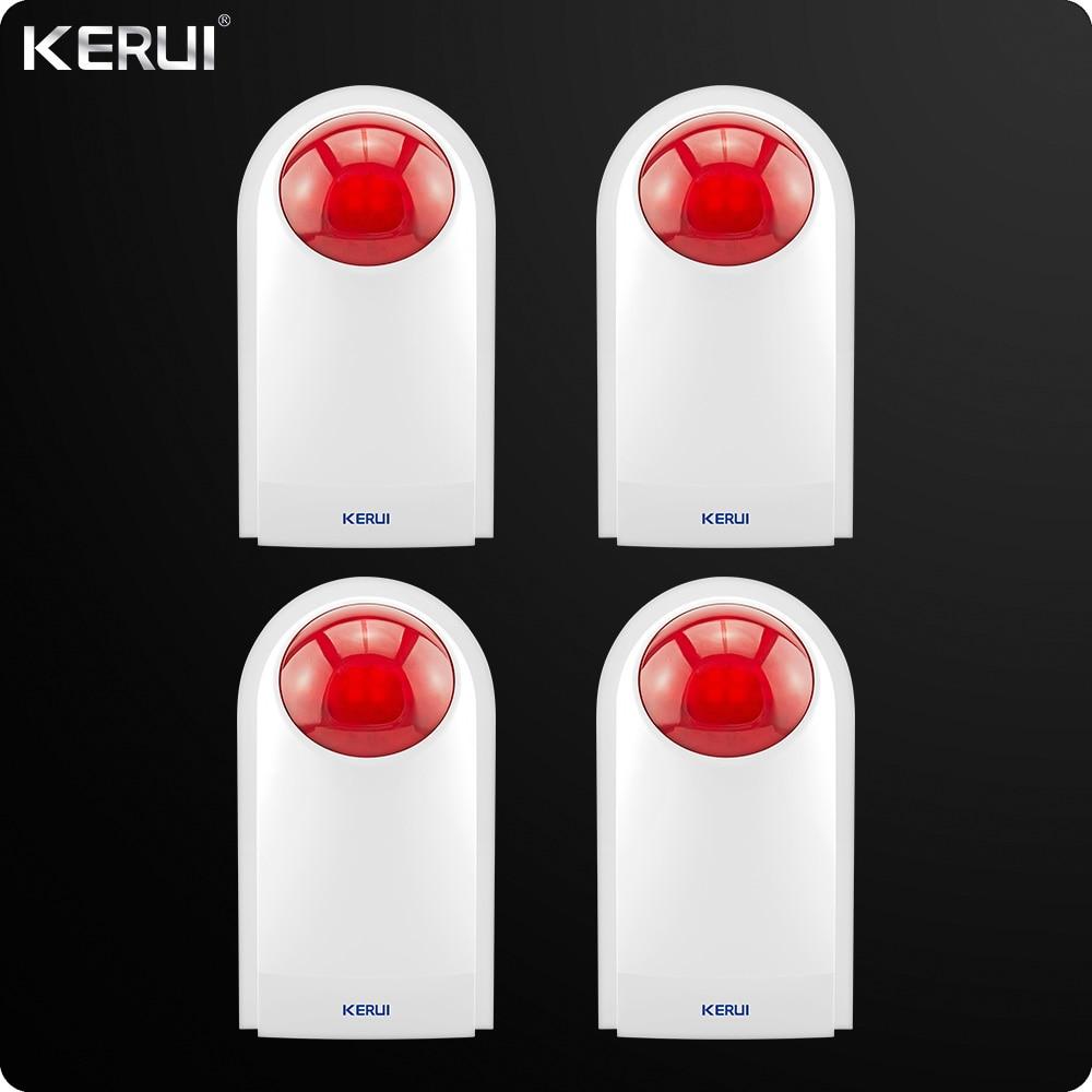 4pcs Kerui Wireless External Outdoor Waterproof Flash Siren Sound Strobe Flash Alarm Siren for Home alarm