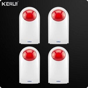 Kerui беспроводная внешняя наружная водостойкая Вспышка Сирена звук стробоскоп Вспышка Сирена WiFi GSM PSTN домашняя охранная сигнализация