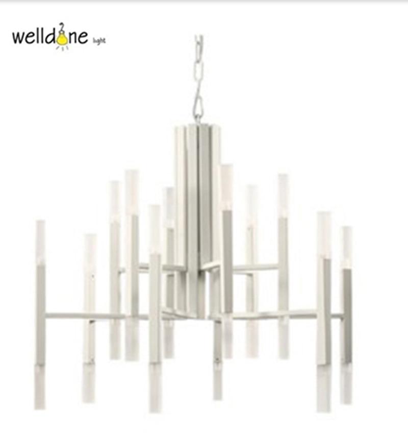 New metal aluminum tube pendant lamp modern chandelier for Home design zymeth aluminum table lamp