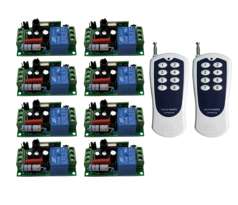 AC 220 V 10 A 1 channel RF Wireless Remote Control Receiver lighting Transmitter Universal 315mhz