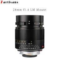 7 handwerker 28mm F1.4 Große Blende paraxial M-mount Objektiv für Leica Kameras M-M M240 M3 M5 M6 m7 M8 M9 M9P M10 Freies Verschiffen