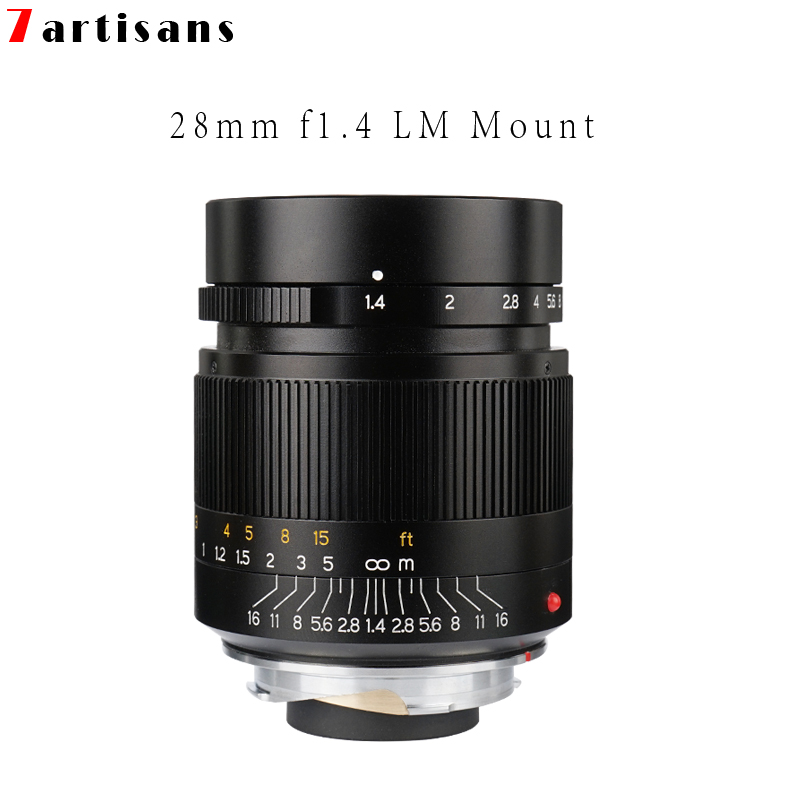 7 handwerker 28mm F1.4 Große Blende paraxial M mount Objektiv für Leica Kameras M M M240 M3 M5 M6 m7 M8 M9 M9P M10 Freies Verschiffen-in Kamera-Objektiv aus Verbraucherelektronik bei  Gruppe 1