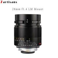7artisans 28 мм F1.4 объектив с широкой диафрагмой и параксиальных M mount объектив для камеры Leica M M M240 M3 M5 M6 M7 M8 M9 M9P M10 Бесплатная доставка