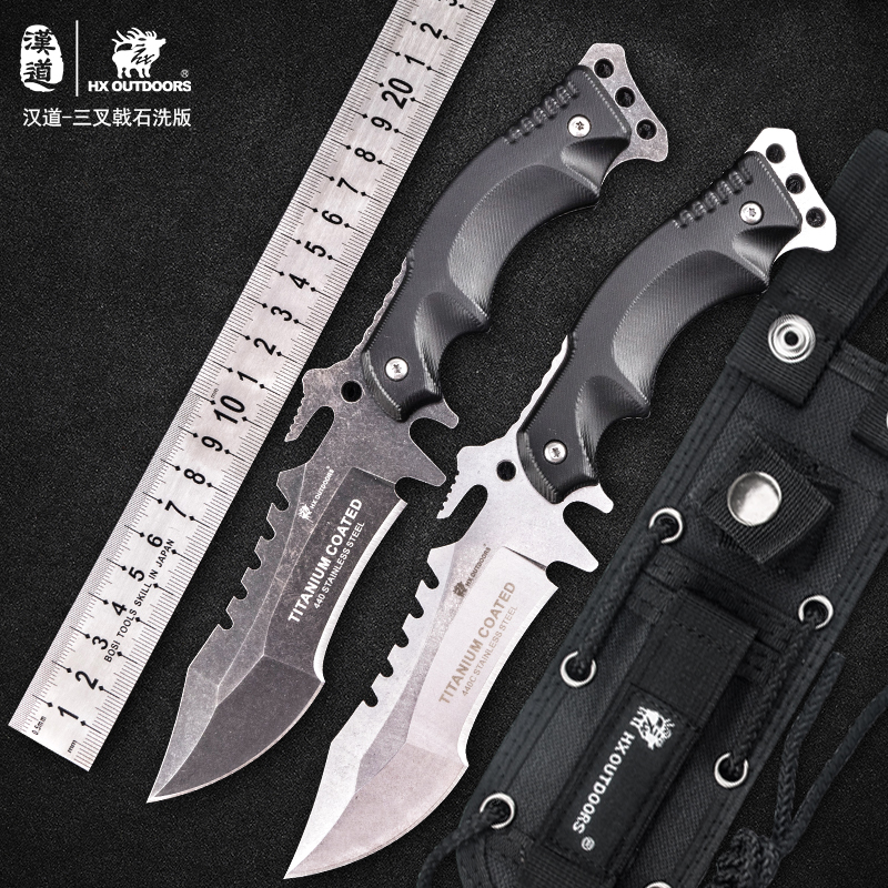 HX OUTDOORS Rock 2018 camping font b Tactical b font army Survival Gear knife outdoor tool