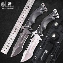 HX на открытом воздухе рок-2018 Отдых на природе Тактический Армии выживания Шестерни нож открытый инструмент высокой твердостью охотничий нож хороший нержавеющая сталь