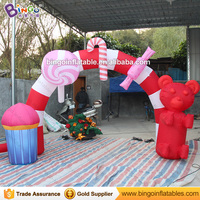 Free shipping 3X2.5M inflatable Christmas candies archway for party decoration lovely blow up sweeties extrance for festival
