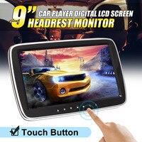 9 inch HD Digital LCD Touch Screen Car Headrest Monitor MP5 DVD Video Media Player USB SD Hifi FM Radio Remote Control