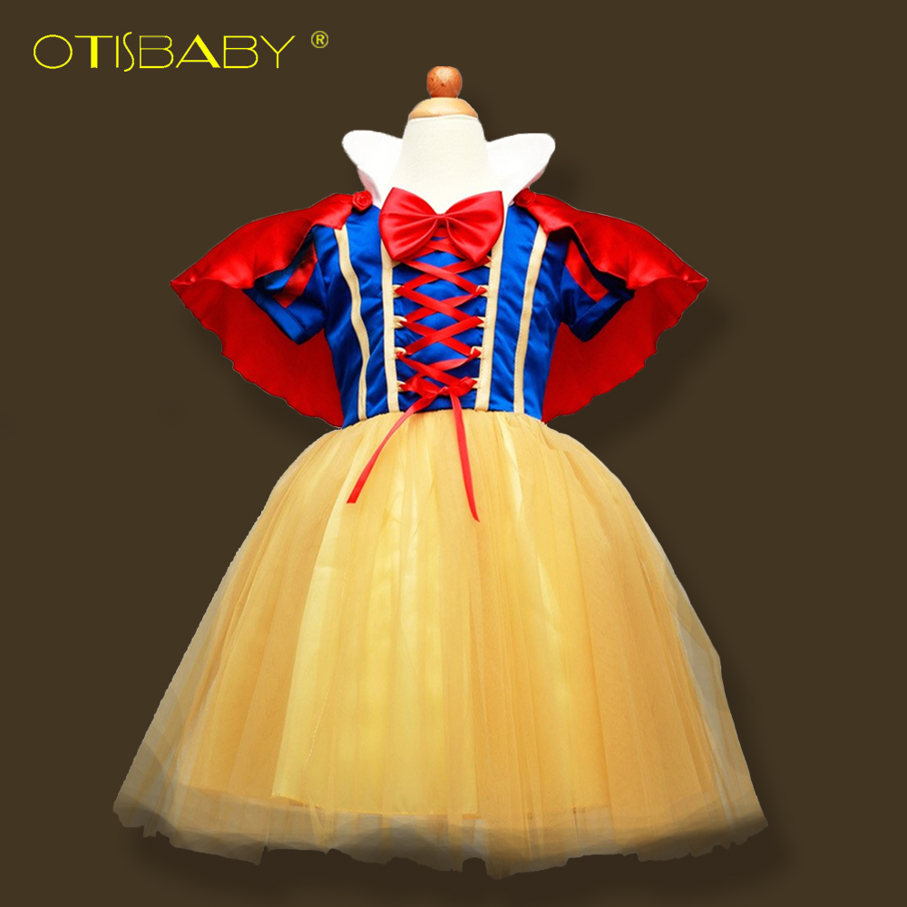 Fantasy Snow White Princess Dress for Girls Christmas Party Dresses Children Clothing Infant Girl Cosplay Costume Kids Clothes 2017 new girls dresses for party and wedding baby girl princess dress costume vestido children clothing black white 2t 3t 4t 5t