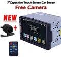 2 DIN Автомобильный DVD/GPS/CD/MP3/mp5/usb/sd/плеер Bluetooth Handsfree Заднего Вида после Сенсорный экран hd системы Бесплатно камера