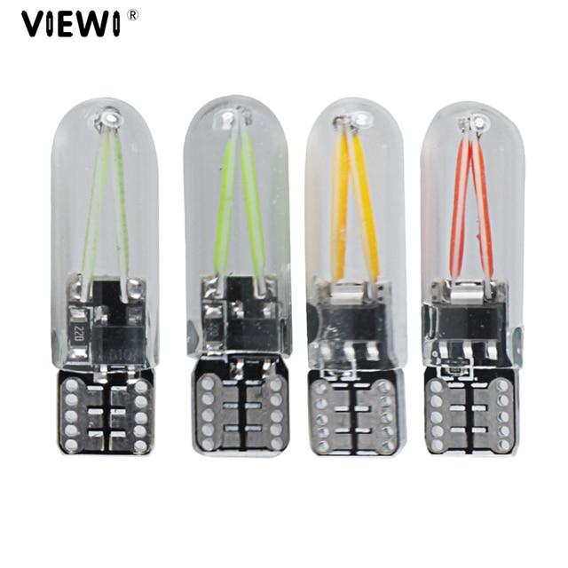 1piece t10 w5w 12V 24v No Error led interior car truck Filament lights COB glass automobiles reading dome bulb 12 24 V Auto lamp