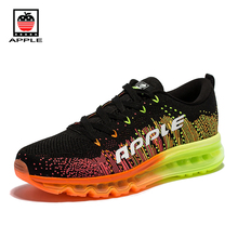 Apple 2017 Hot Sale Mesh Men's Air Outsole Running Shoes Male Brand new Fly weaving breathable air cushion sneakers AP1801